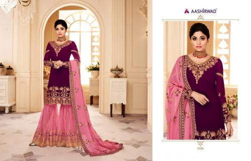 Aashirwad Creation Gulkand Shamita Sharara wholesale Salwar Kameez catalog