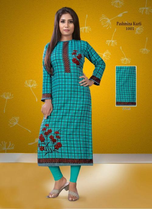 Poorvi Designer Pashmina Vol-1 wholesale Kurti catalog
