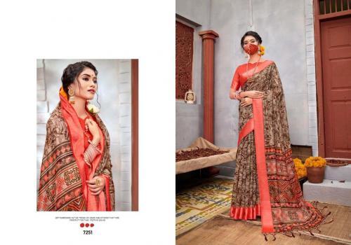 5D Designer Linen Silk wholesale saree catalog