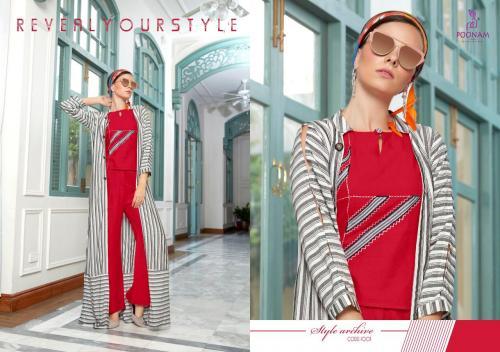 Poonam Designer Shrugs wholesale Kurti catalog