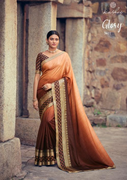Kashvi Creation Glory 3401-3410 Series wholesale saree catalog
