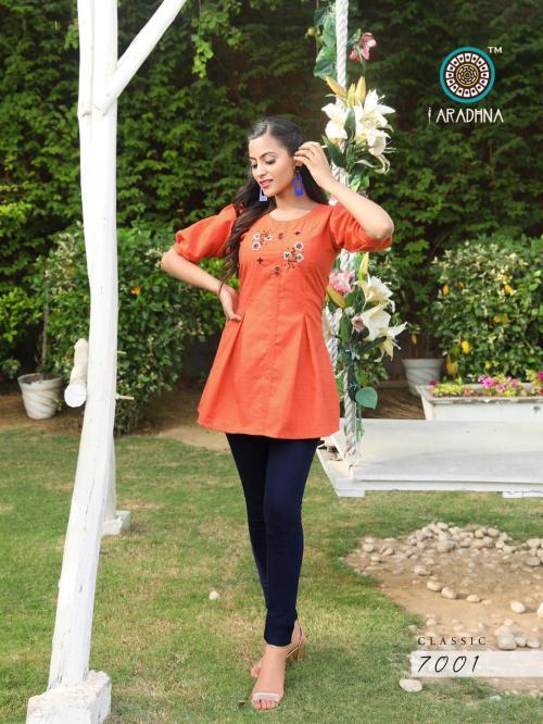 Aradhna Fashion Classic Vol-7 7001-7010 Series wholesale Kurti catalog