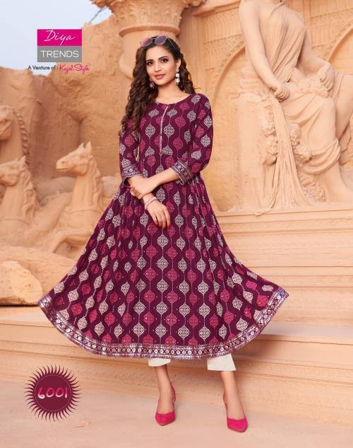 Diya Trendz Ethnic City Vol-6 6001-6010 Series wholesale Kurti catalog