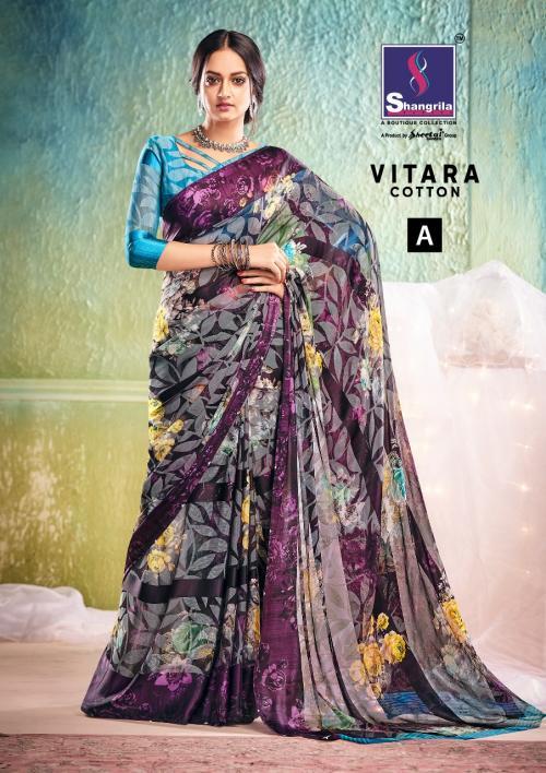 Shangrila Saree Vitara Cotton wholesale saree catalog