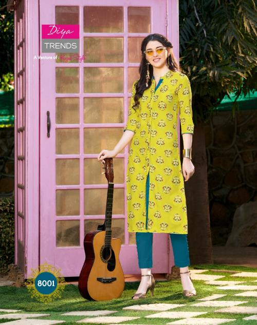 Diya Trendz Garden City Vol-8 wholesale Kurti catalog
