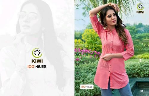100 Miles Kiwi wholesale Kurti catalog