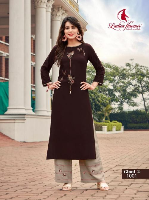 Ladies Flavour Ginni Vol-2 wholesale Kurti catalog