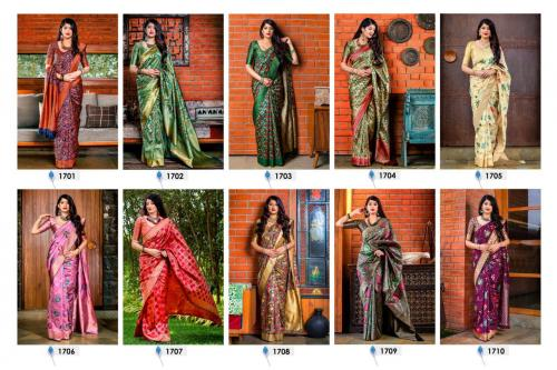 Manjubaa Meher Silk wholesale saree catalog