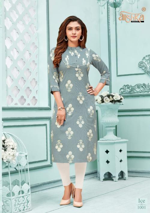 Alishka Fashion Ice 1001-1004 Series wholesale Kurti catalog