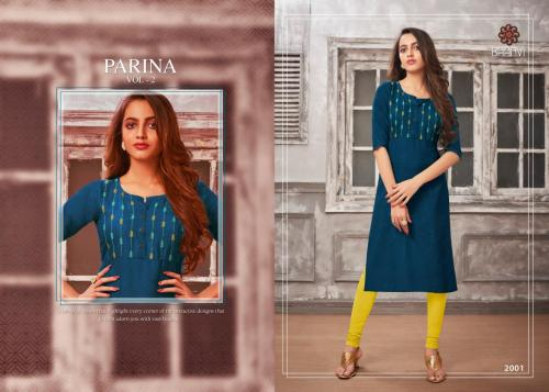 R Studio Baanvi Parina Vol-2 wholesale Kurti catalog