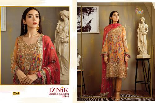 Shree Fabs Iznik Embroidered Collection Vol-4 7041-7046 Series