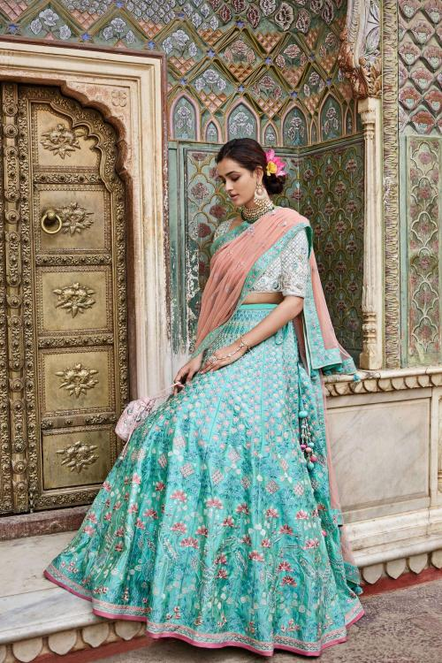 Designer Sea Green Lehenga 114  wholesale Lehengas catalog