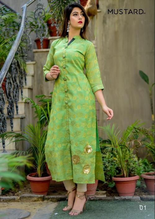 Mustard Goldstar wholesale Kurti catalog