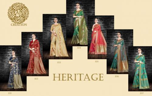 AJ Creation Heritage wholesale saree catalog