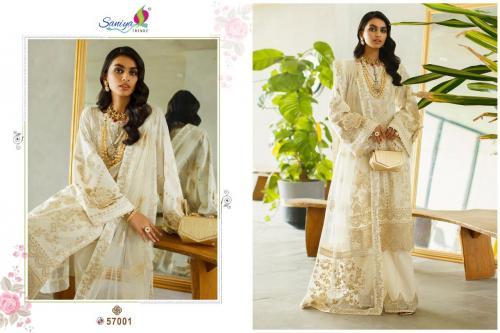 Saniya Trendz Rouche Vol-6 57001-57004 Series wholesale Salwar Kameez catalog