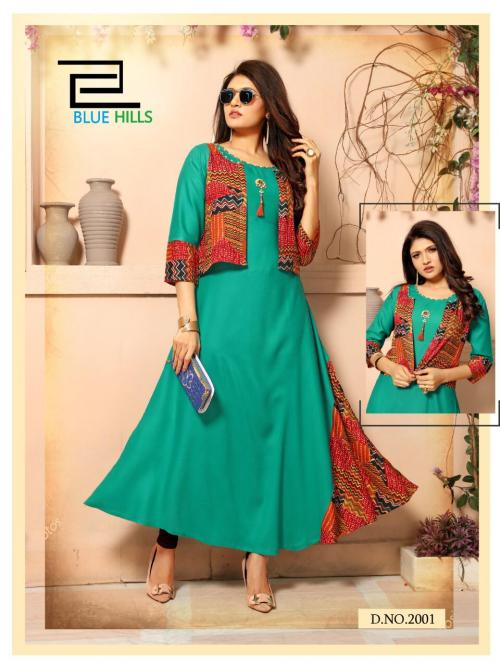 Blue Hills Lahariya NX wholesale Kurti catalog