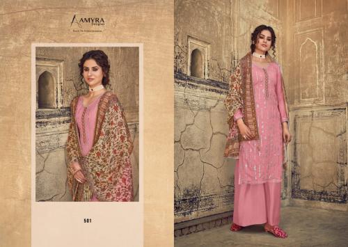 Amyra Designer Qalamkar 501-504 Series wholesale Salwar Kameez catalog