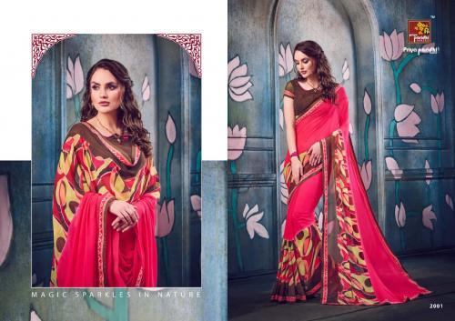Priya Paridhi Womanly Wholesale Sarees Catalog